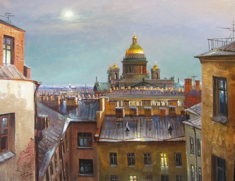 Pictures of glorious Saint-Petersburg by an artist Vladimir Kulikov - 24