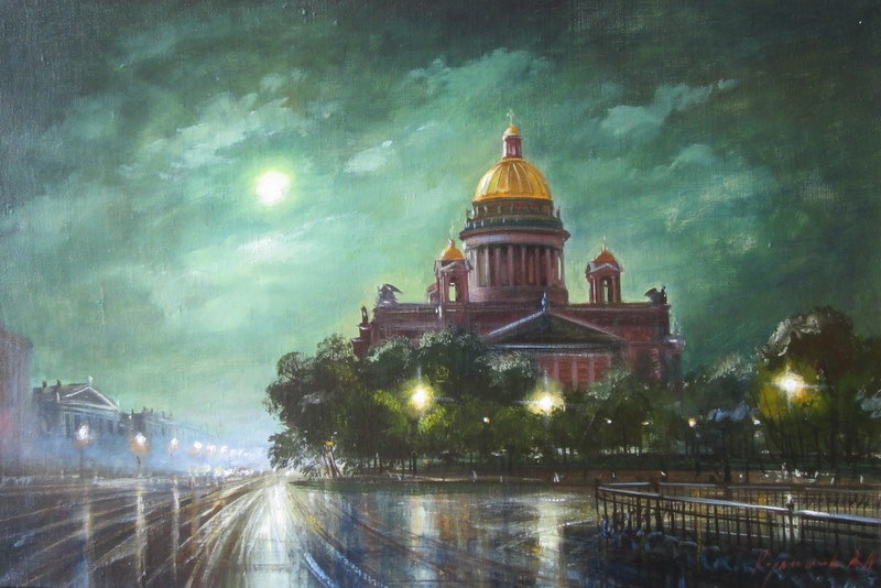 Pictures of glorious Saint-Petersburg by an artist Vladimir Kulikov - 26