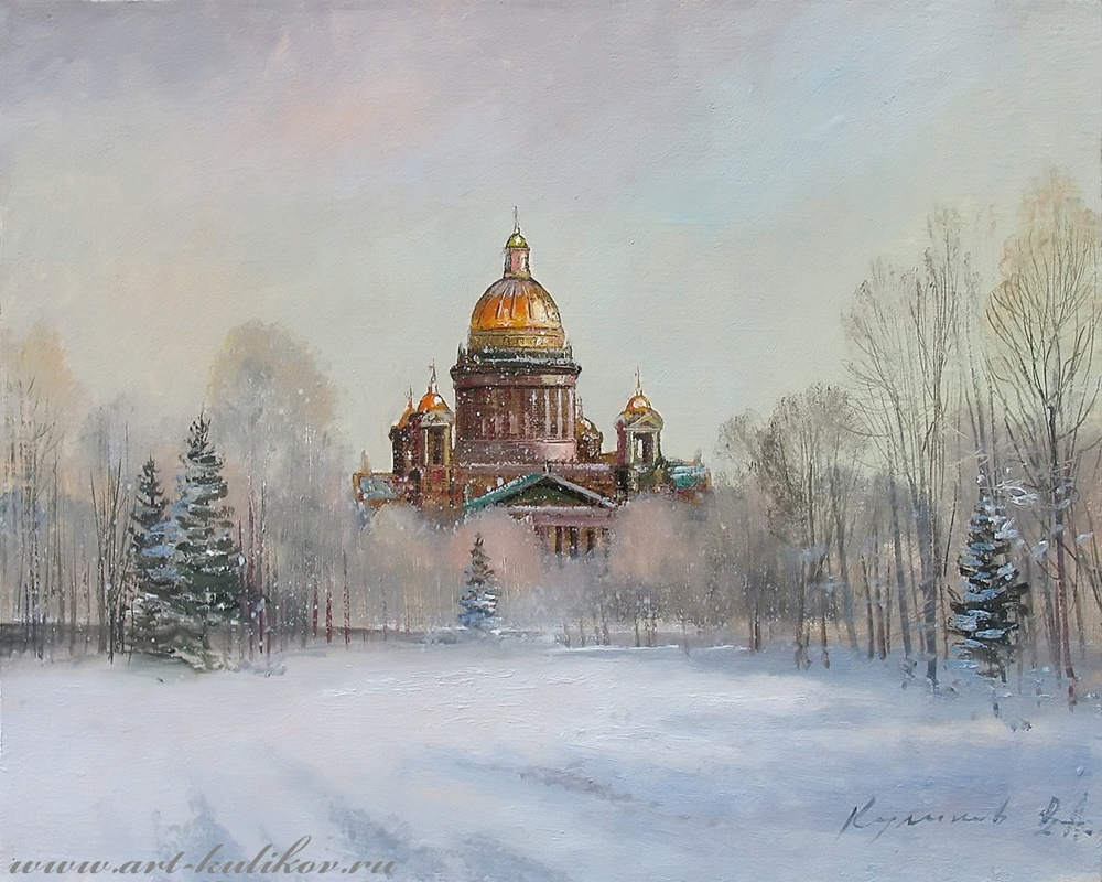 Pictures of glorious Saint-Petersburg by an artist Vladimir Kulikov - 03