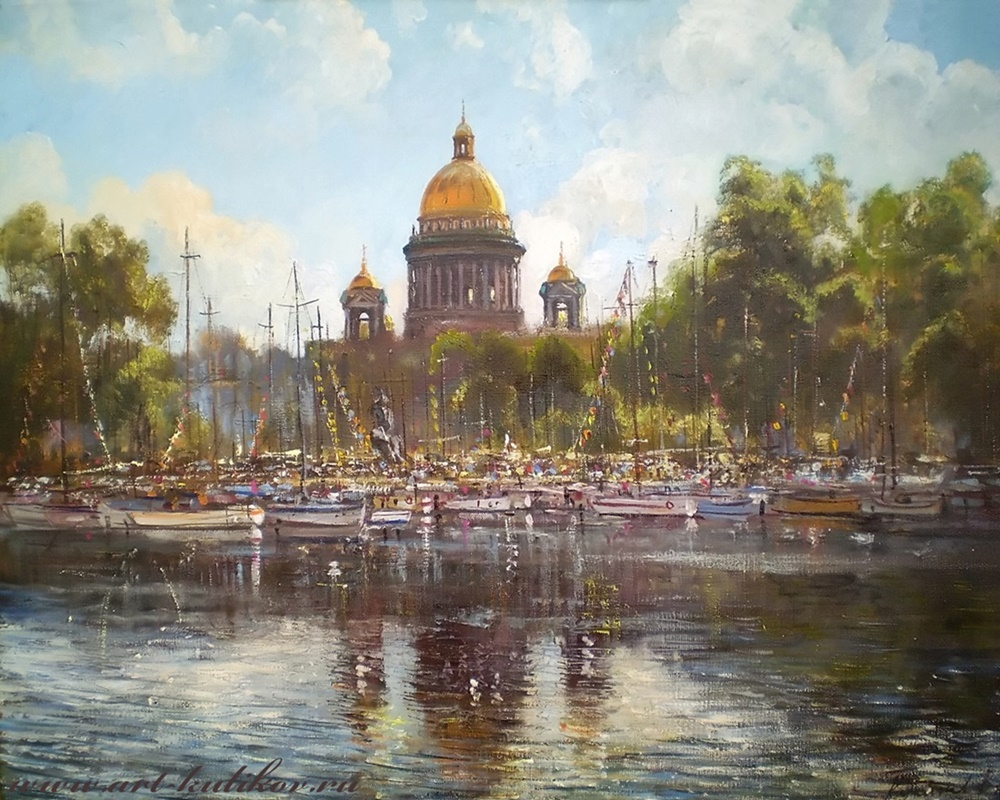Pictures of glorious Saint-Petersburg by an artist Vladimir Kulikov - 06