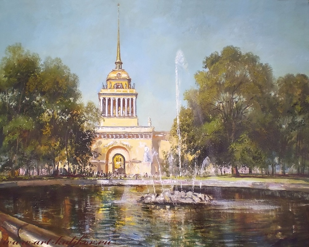 Pictures of glorious Saint-Petersburg by an artist Vladimir Kulikov - 07