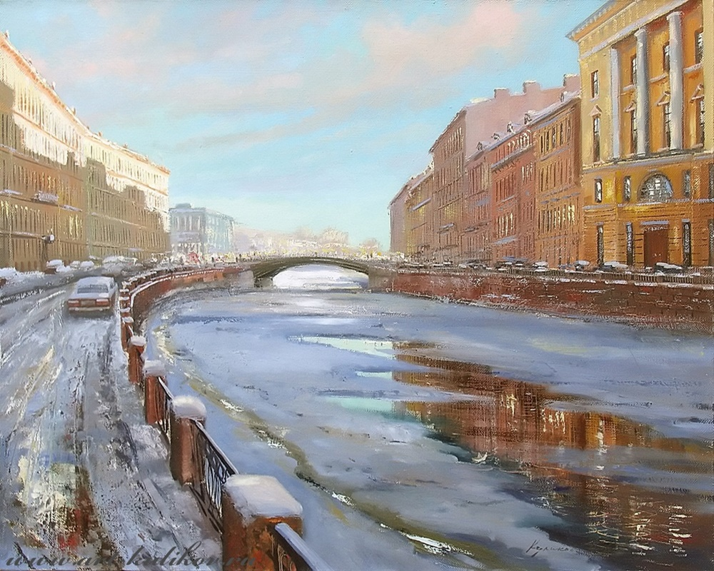 Pictures of glorious Saint-Petersburg by an artist Vladimir Kulikov - 08