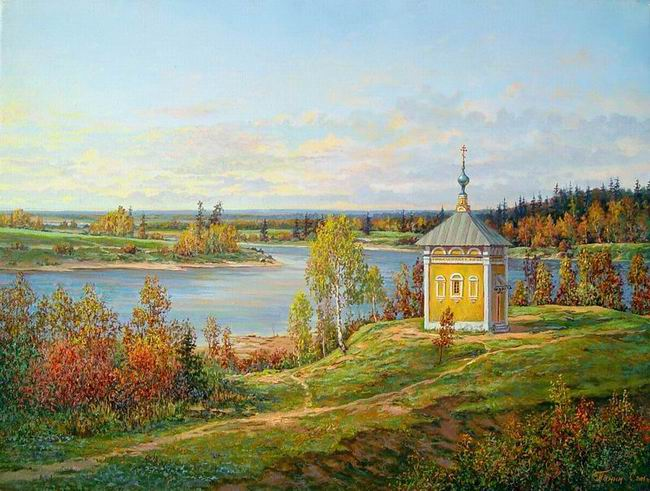 Russian expanses: Beauteous painting by the artist Sergey Panin - 01
