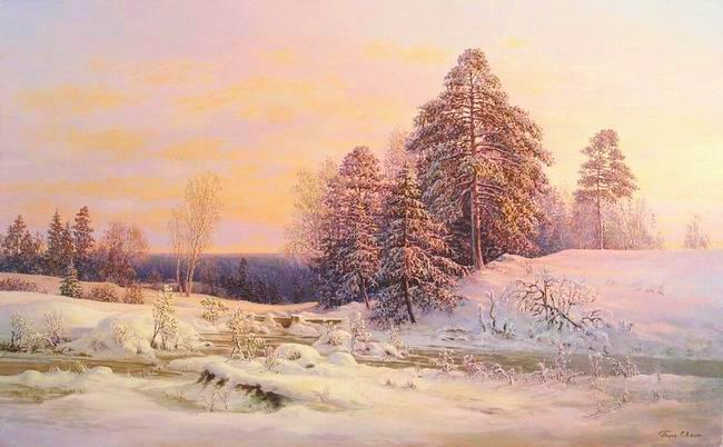 Russian expanses: Beauteous painting by the artist Sergey Panin - 02