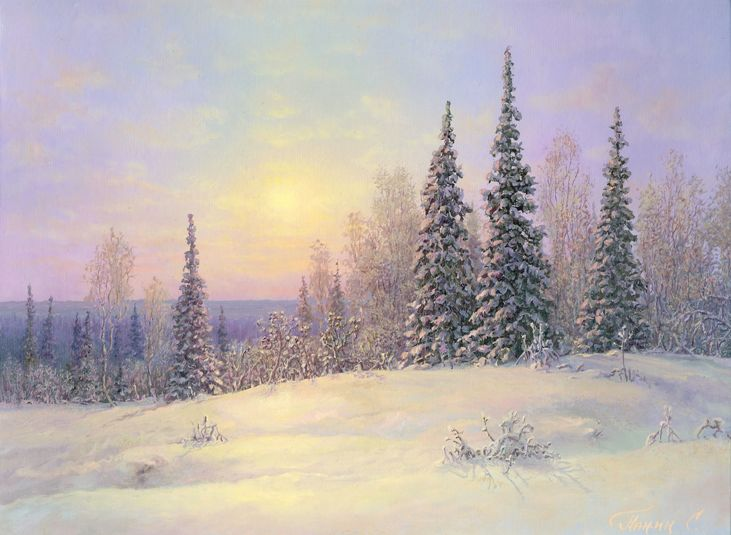 Russian expanses: Beauteous painting by the artist Sergey Panin - 22