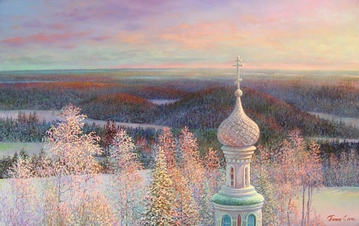 Russian expanses: Beauteous painting by the artist Sergey Panin - 24