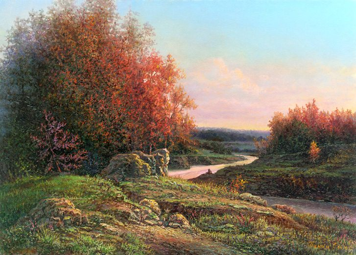 Russian expanses: Beauteous painting by the artist Sergey Panin - 34