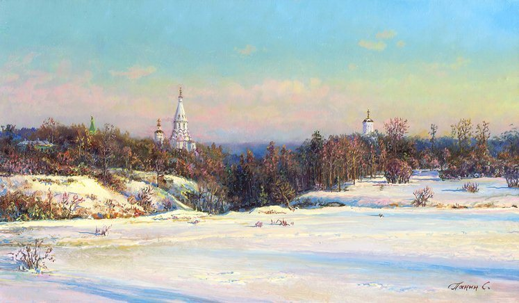 Russian expanses: Beauteous painting by the artist Sergey Panin - 36
