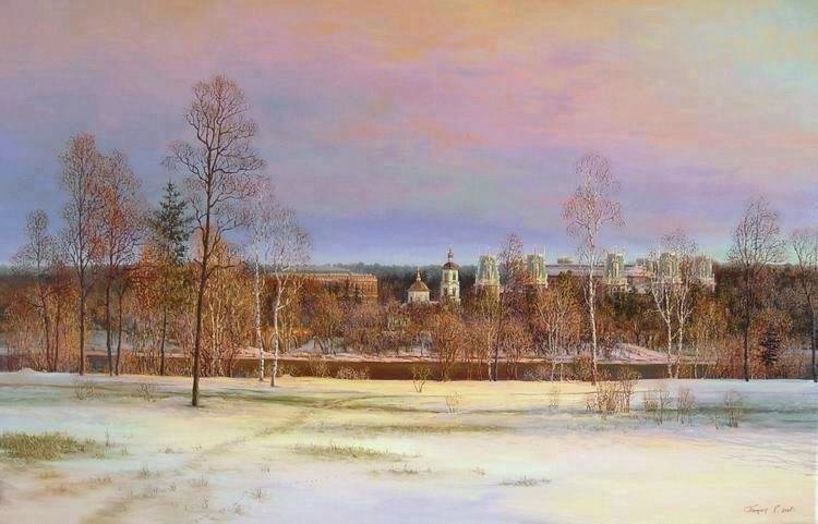 Russian expanses: Beauteous painting by the artist Sergey Panin - 08