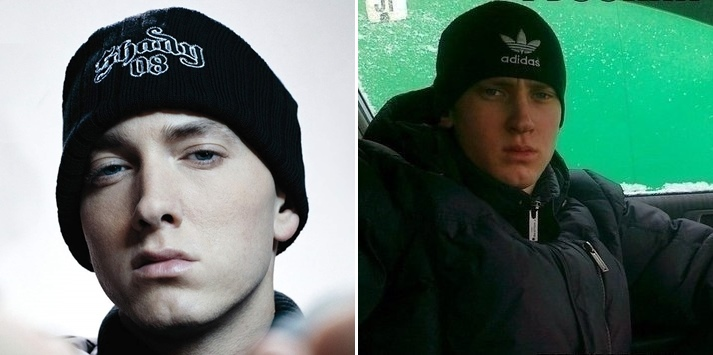 Eminem after living in Russia
