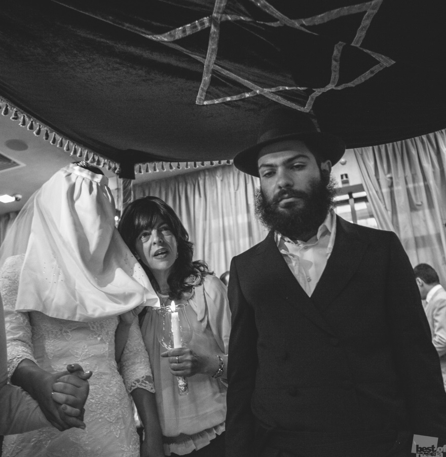 Hasidic Jews under the Chuppah