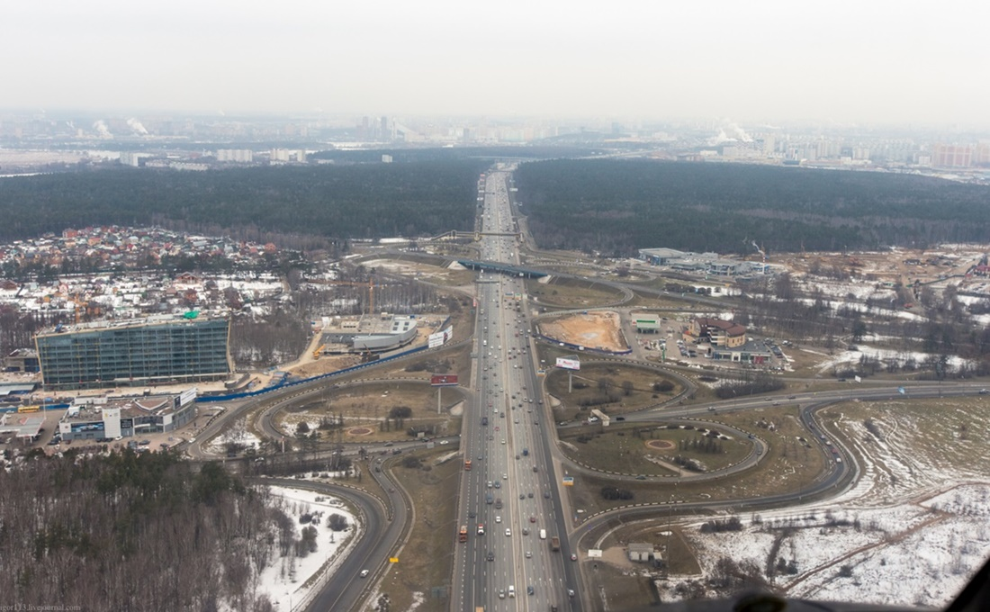 Flying around a suburban area of Moscow - 11