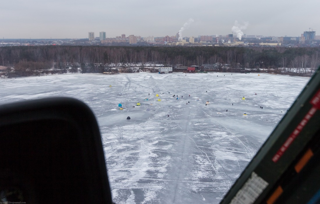 Flying around a suburban area of Moscow - 14