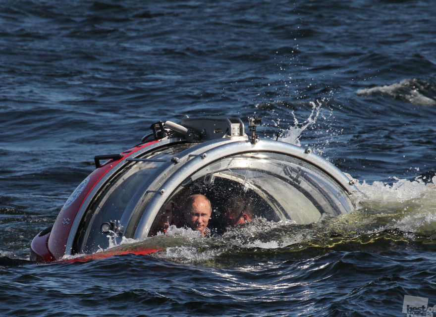 President Putin on a bathyscaphe
