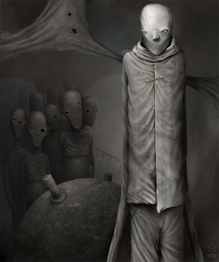 Gloom: Scary paintings by a Russian artist Anton Semenov - 11