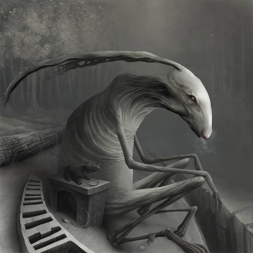 Gloom: Scary paintings by a Russian artist Anton Semenov - 12