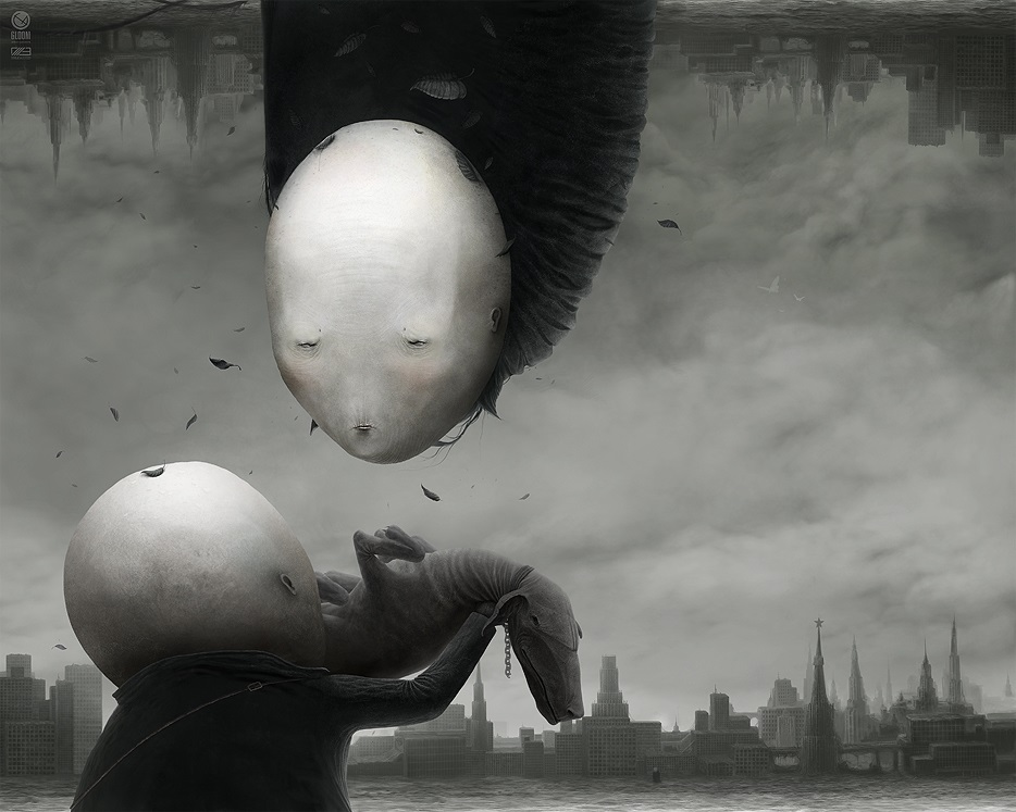 Gloom: Scary paintings by a Russian artist Anton Semenov - 24