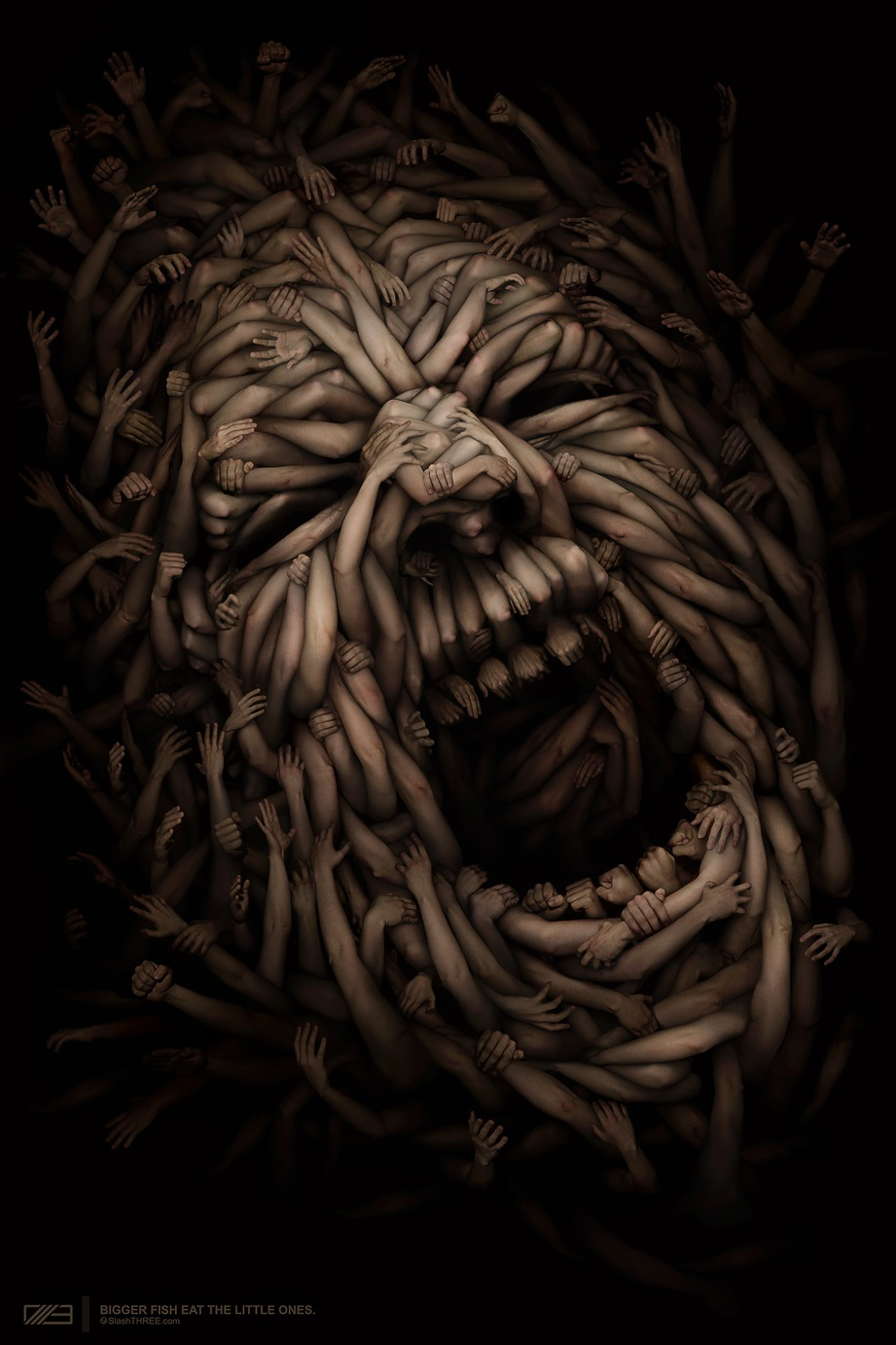 Gloom: Scary paintings by a Russian artist Anton Semenov - 32