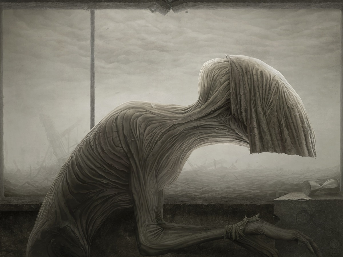 Gloom: Scary paintings by a Russian artist Anton Semenov - 33