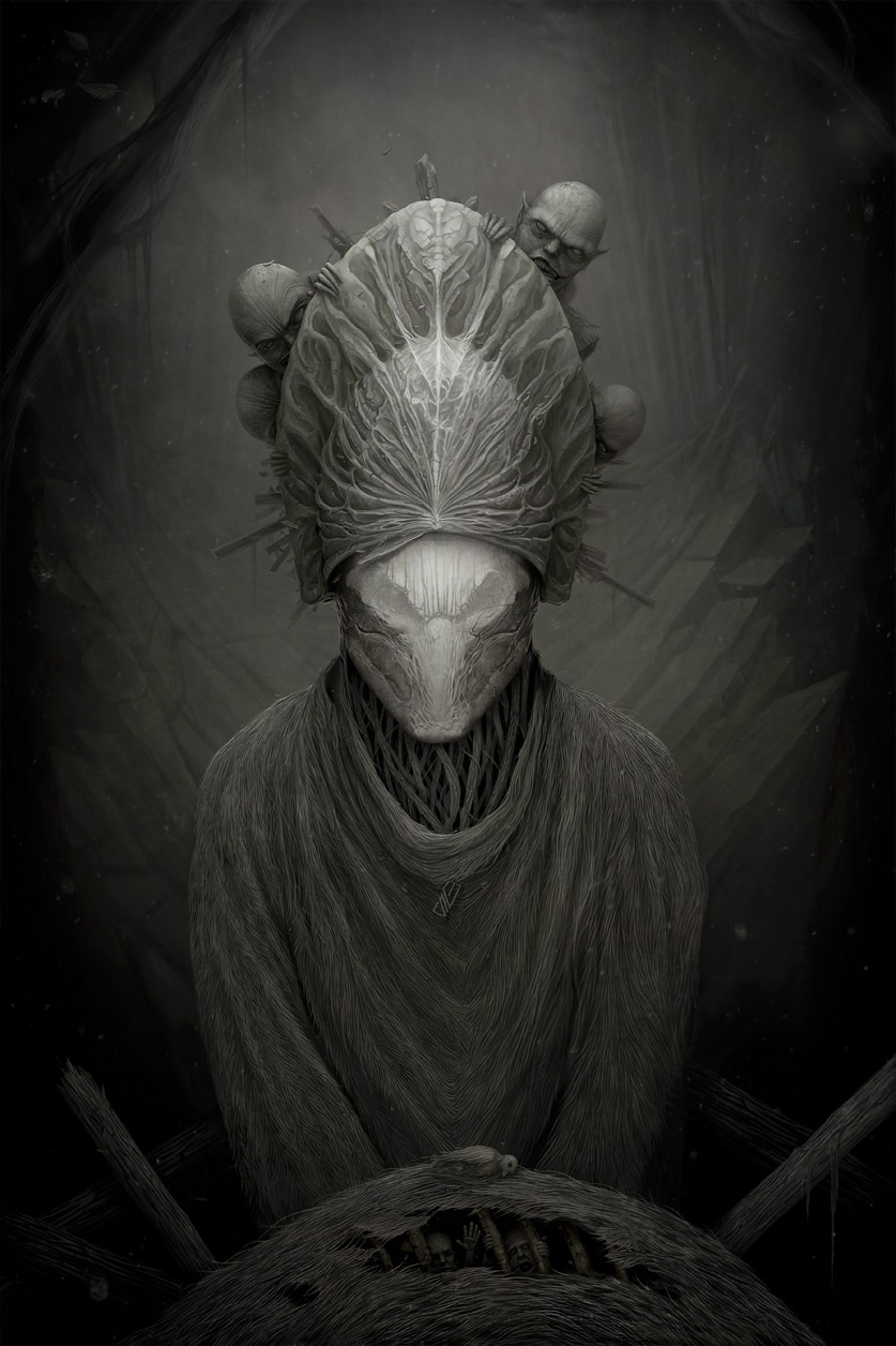 Gloom: Scary paintings by a Russian artist Anton Semenov - 36