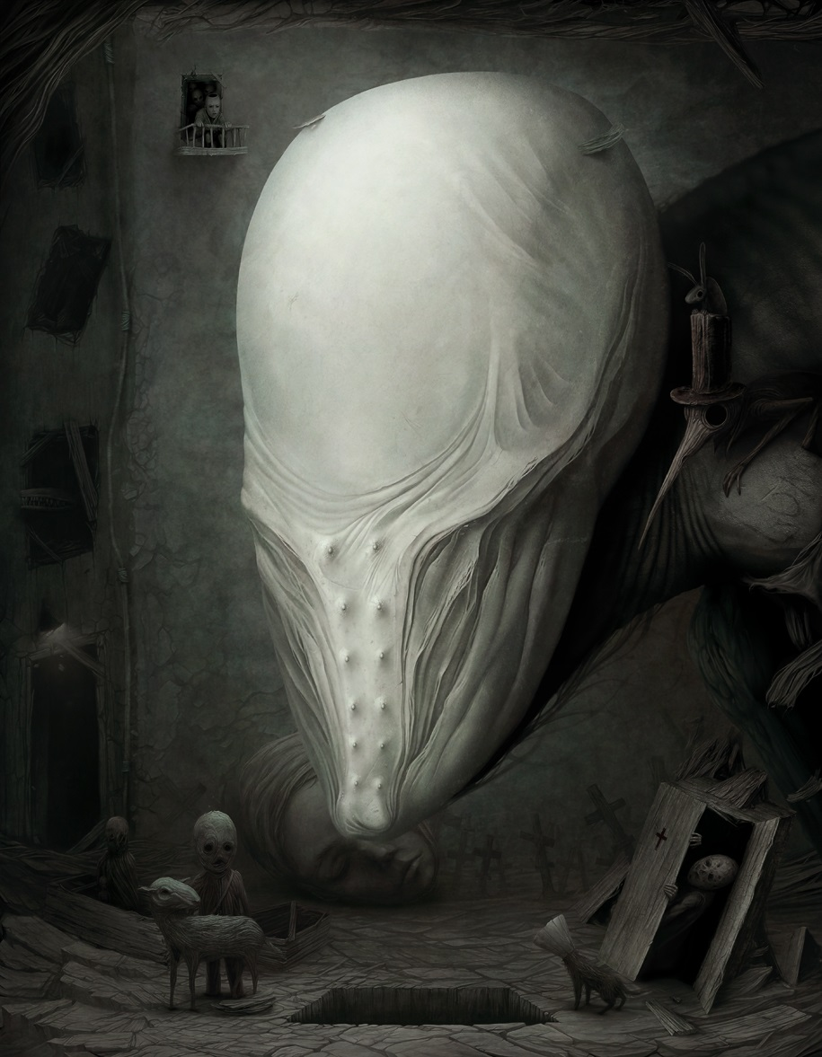 Gloom: Scary paintings by a Russian artist Anton Semenov - 44