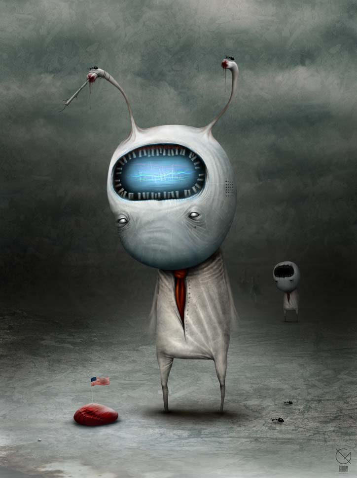Gloom: Scary paintings by a Russian artist Anton Semenov - 05
