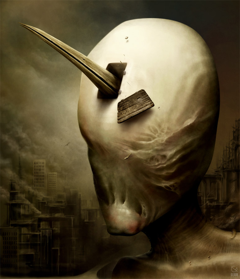 Gloom: Scary paintings by a Russian artist Anton Semenov - 09