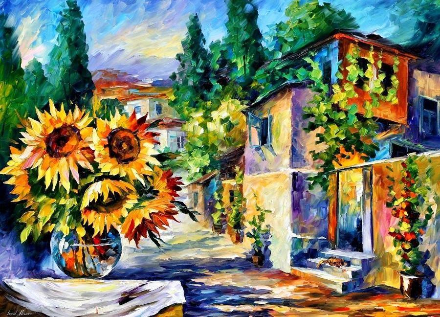 Urban landscapes drawing by Belarusian artist Leonid Afremov - 10