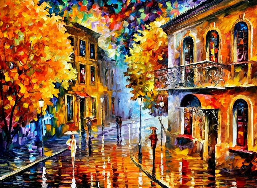 Urban landscapes drawing by Belarusian artist Leonid Afremov - 11
