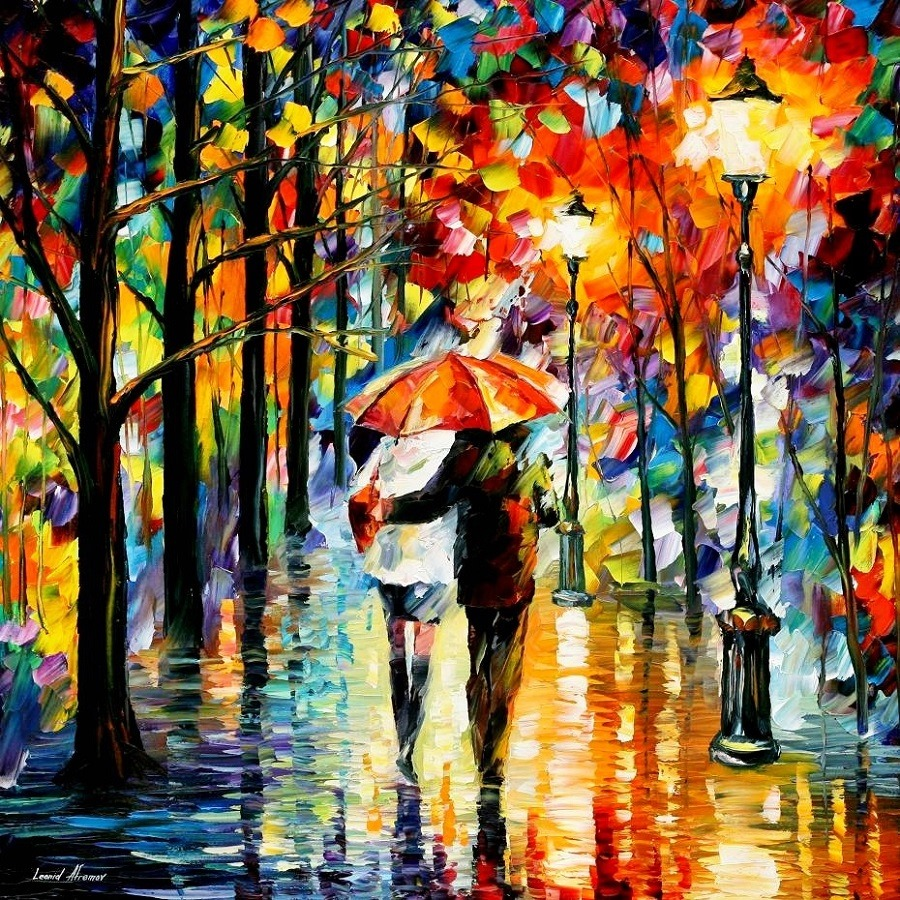 Urban landscapes drawing by Belarusian artist Leonid Afremov - 12