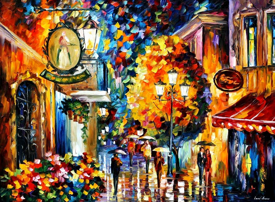 Urban landscapes drawing by Belarusian artist Leonid Afremov - 14