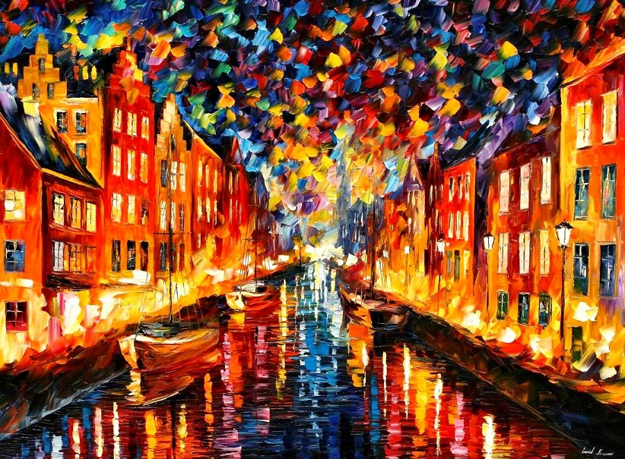 Urban landscapes drawing by Belarusian artist Leonid Afremov - 17