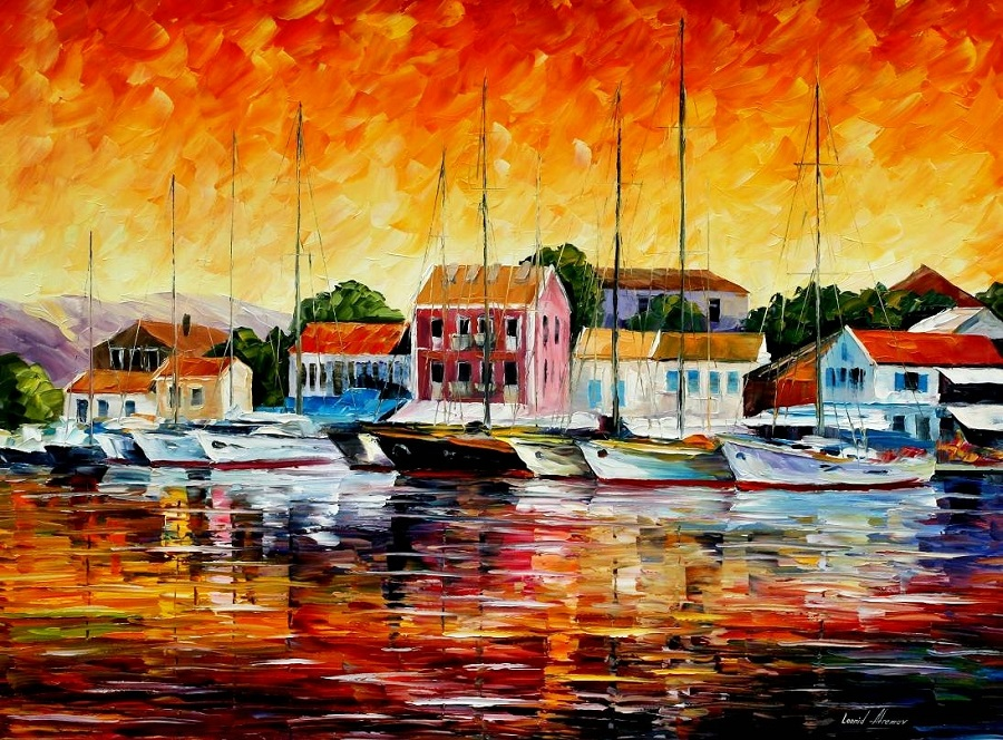 Urban landscapes drawing by Belarusian artist Leonid Afremov - 18