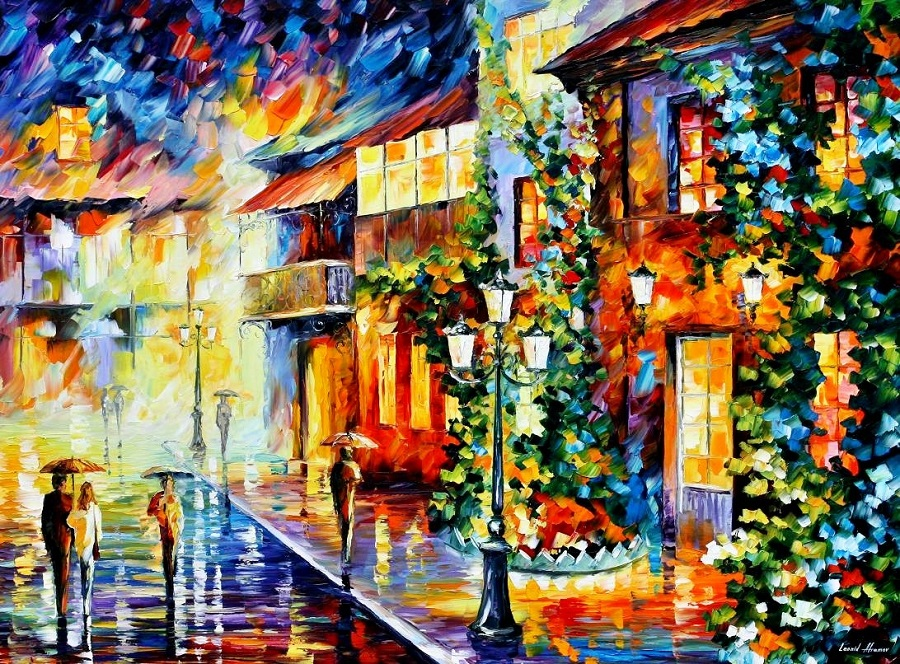 Urban landscapes drawing by Belarusian artist Leonid Afremov - 19