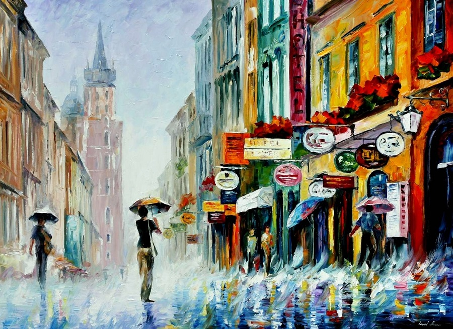 Urban landscapes drawing by Belarusian artist Leonid Afremov - 20