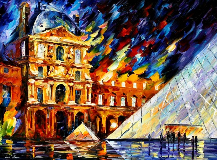Urban landscapes drawing by Belarusian artist Leonid Afremov - 21