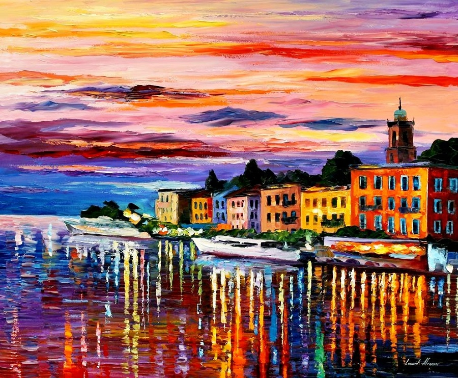 Urban landscapes drawing by Belarusian artist Leonid Afremov - 08