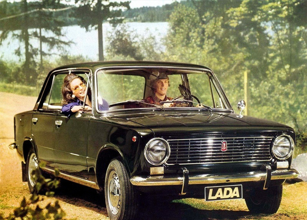 Advertising posters of Soviet cars VAZ (Lada) - 02