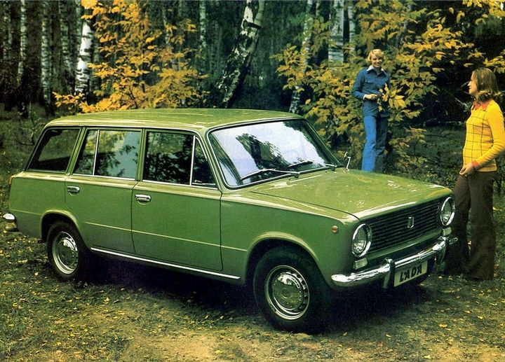 Advertising posters of Soviet cars VAZ (Lada) - 14