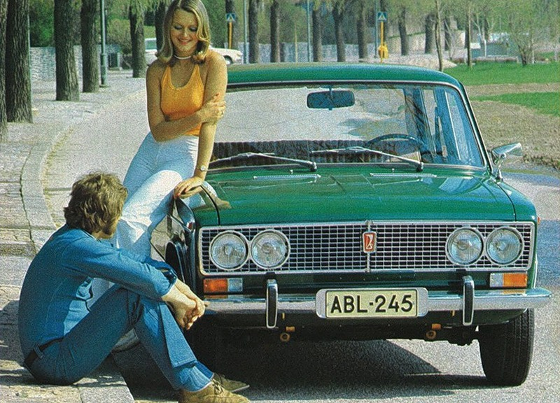 Advertising posters of Soviet cars VAZ (Lada) - 17