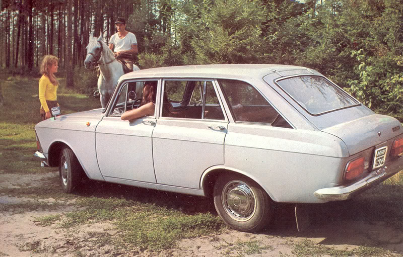 Advertising posters of Soviet cars Moskvitch - 02
