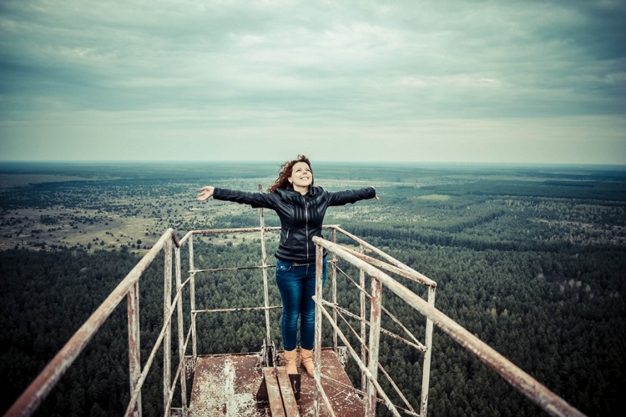 Climbing on Soviet over-the-horizon radar system Duga in Chernobyl - 19