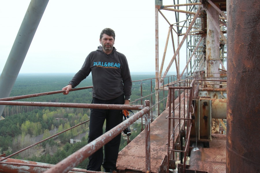 Climbing on Soviet over-the-horizon radar system Duga in Chernobyl - 09