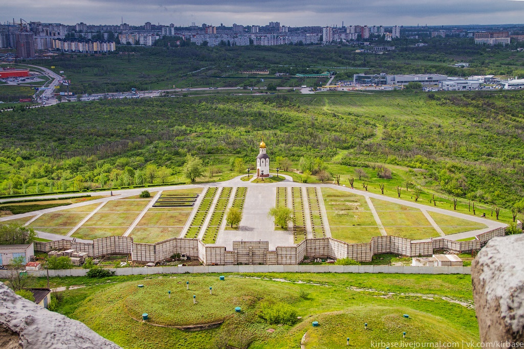 Climbing on top of the Motherland Calls Monument in Volgograd - 21
