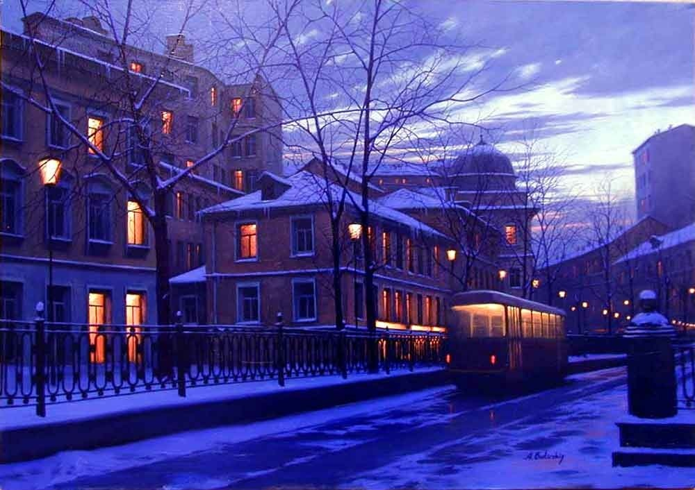 Pensive mood: Night cityscapes by a Russian artist Alexey Butyrsky - 34