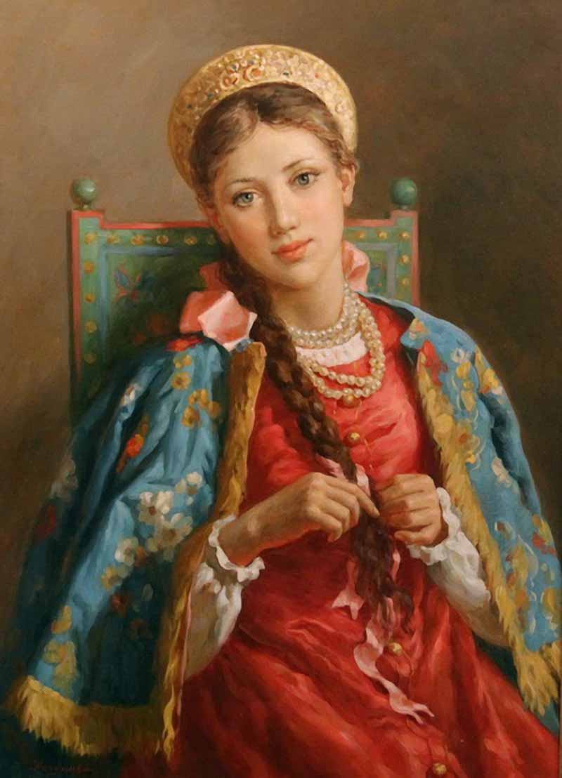 Russian princess: Pictures by a Russian artist Vladislav Nagornov - 01
