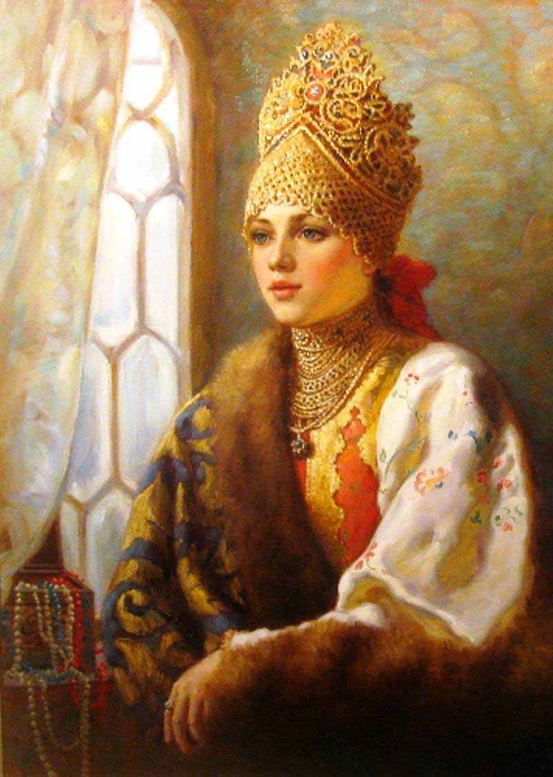 Russian princess: Pictures by a Russian artist Vladislav Nagornov - 04