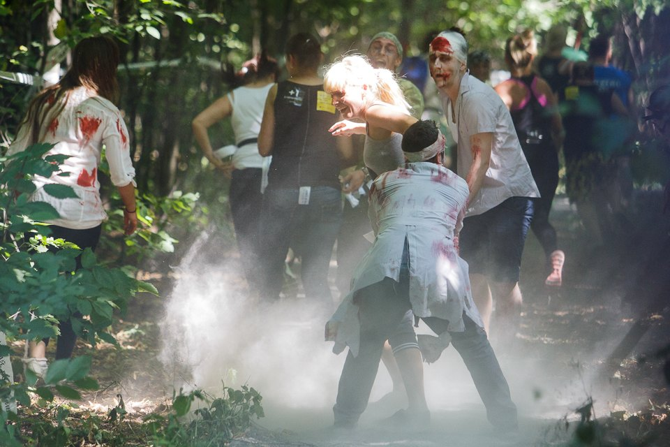 Enchanted race: Zombie attack in the Sokolniki Park in Moscow - 13