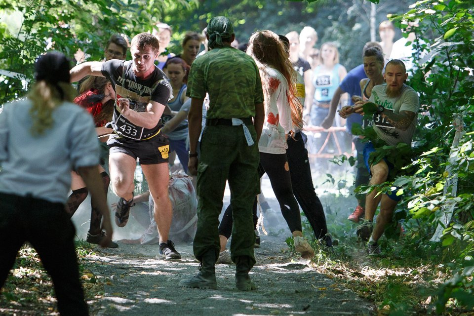 Enchanted race: Zombie attack in the Sokolniki Park in Moscow - 15