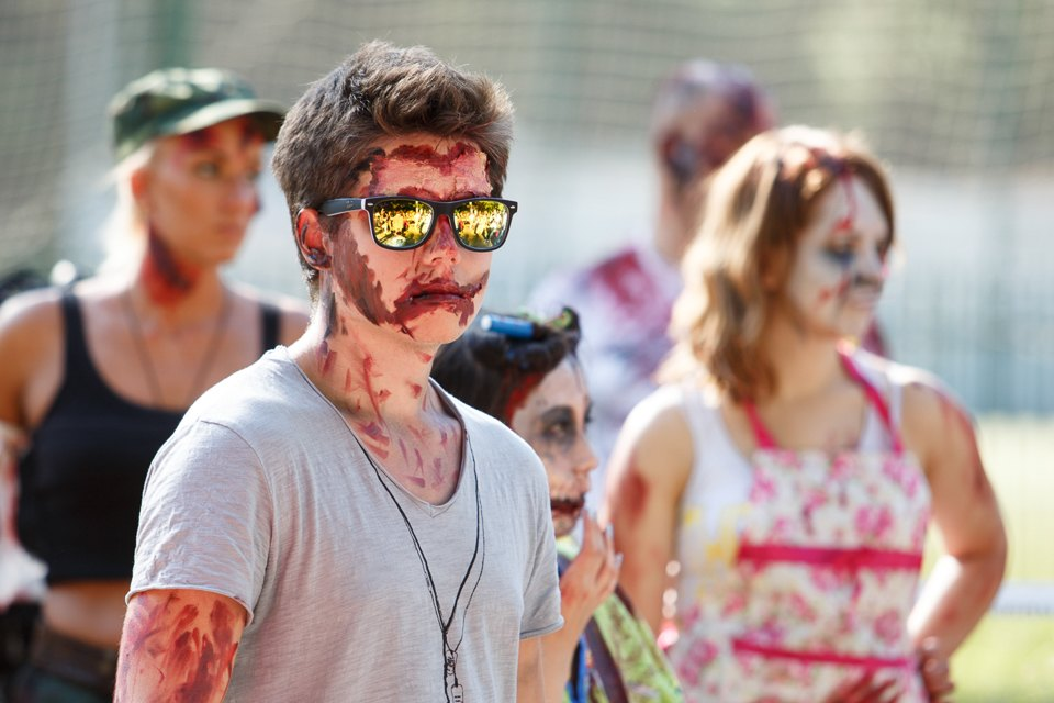 Enchanted race: Zombie attack in the Sokolniki Park in Moscow - 02